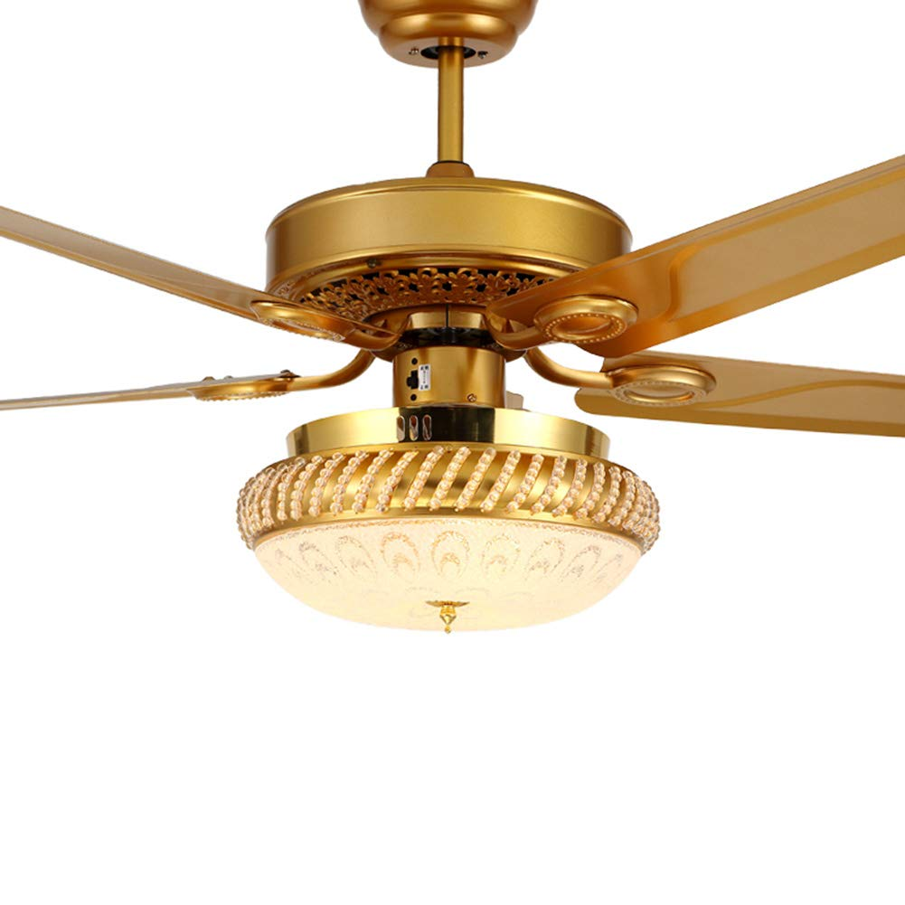 48 Inch 5 Blades Dimmable Ceiling Fan Light with Remote Control ...