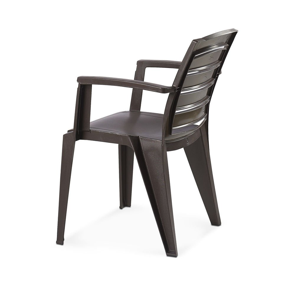 Nilkamal plastic chair -  Home By Nilkamal Passion Chair Weather Brown Amazon In Home Kitchen