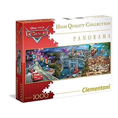 Clementoni 39348 Puzzle Cars Panorama Disney Collection 1000 Pezzi Multicolore