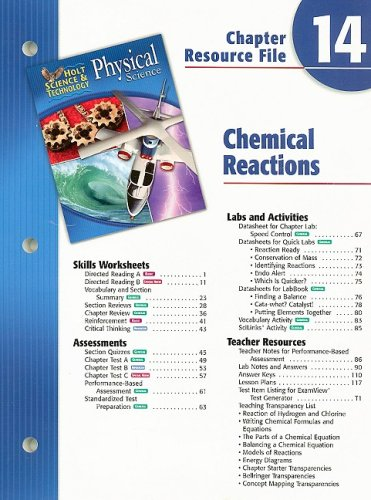 Holt Science & Technology Physical Science Chapter 14 Resource File