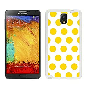 BINGO hot-sale Polka Dot White and Yellow Samsung Galaxy Note 3 Case White Cover