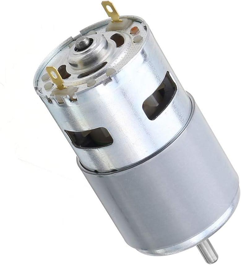 CROSYO 1pc 775/795/895 el Motor del Engranaje/Soporte del Motor DC 12V-24V 3000-12000RPM Motor Grande de par Motor del Engranaje (Color : 895 12V 6000rpm)