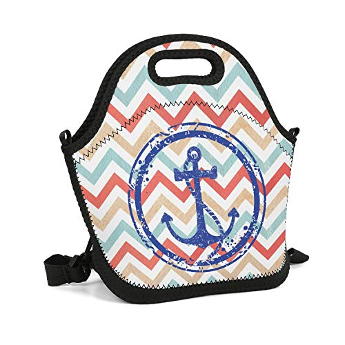 Milr Gile Custom Lunch Box Anchor Bridle Ring Resuable Insulated Thermal Tote Lunch Bag