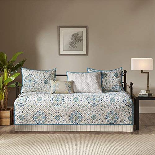 Madison Park Maya Teal 6 Piece Quilted Daybed Set