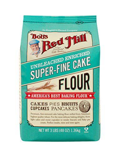 Bob's Red Mill Super-Fine Cake Flour - 48 Ounce (Pack of 4) (Best Flour For Pastry)