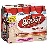 Boost Original, Complete Nutritional Drink, Bottles, Creamy Strawberry 6 ea