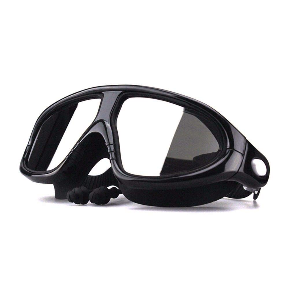 Fhccy Swim Goggles,Swimming Goggles No Leaking Anti Fog UV Predection Crystal Clear Vision Triathlon Swim Goggles with Free Predection Case for Adult Men Women Youth Teens,Multiple Choiceblack