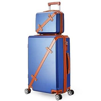Trolley ligero maleta Juego de maletas para equipaje de mano rígida de 2 piezas Juego anidado ...