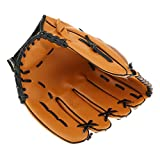 Outdoor Team Sports 10.5/11.5/12.5 Inches Left Hand PVC Wear-resistant Youth Baseball Glove - Brown - Brown, 10.5inch