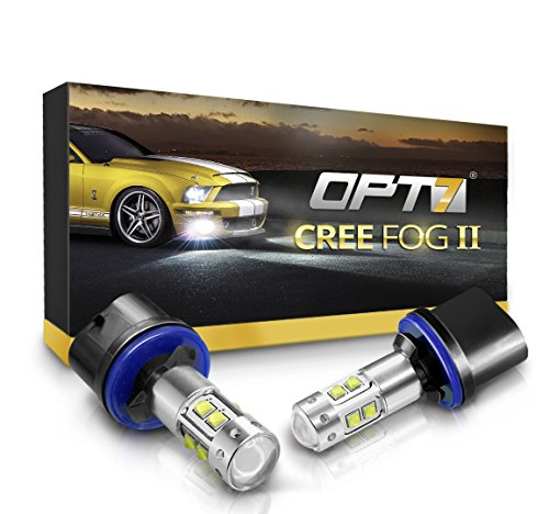 OPT7 880 (892 890 899) CREE XLamp LED DRL Fog Light Bulbs - 5000K Bright White @ 700 Lm per Bulb - All Bulb Sizes and Colors - 1 Year Warranty (Pack of 2)