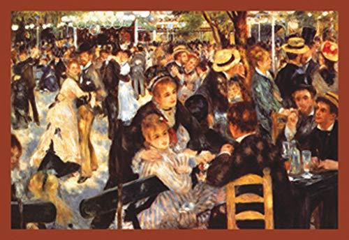ArtParisienne Bal du Moulin de la Galette Pierre-Auguste Renoir 24x36-inch Wall Decal (Auguste Renoir Moulin De La Galette 1876)