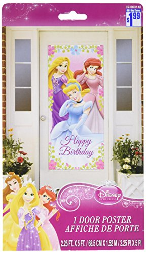 Disney Princess Plastic Door Poster (1ct)