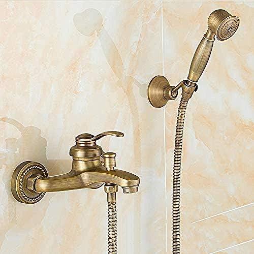 ZJN-JN 蛇口 すべてのブロンズは、シャワー浴室の蛇口トリプルホットとコールドバルブシンプルシングルハンドルシャワースーツ4点インタフェース水タップをミキシングしてください 台付