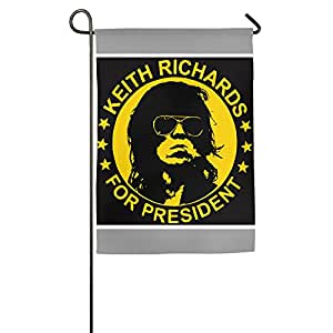 Keith Richards For President One-Sided,Decorative Nylon Home Garden Flags 1827inch