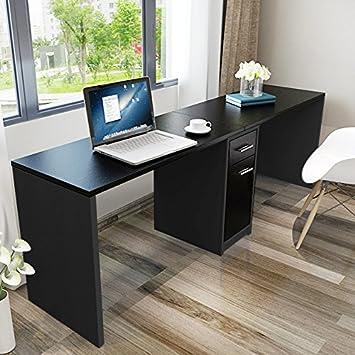 tribesigns doble estación de trabajo escritorio para ordenador con ...