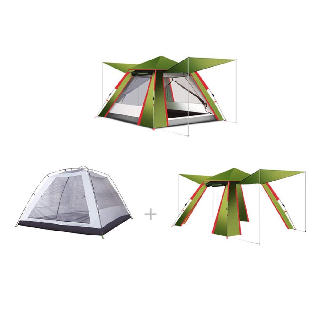 MODKOY Camping Zelt, 3-4 Personen Outdoor Automatische Zelt Verdickung Rain Field Multifunktionale Abnehmbare Camping Zelt