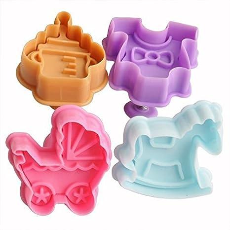 Moldes de Slicon Bakeware, Figuras para Fiesta de bebé, de plástico,, 5 x 5 x 5 cm.: Amazon.es: Hogar