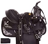 AceRugs 10″ 12″ 13″ Western Light Weight Youth Pony Horse Saddle TACK Headstall REINS Breast Collar Set Cordura