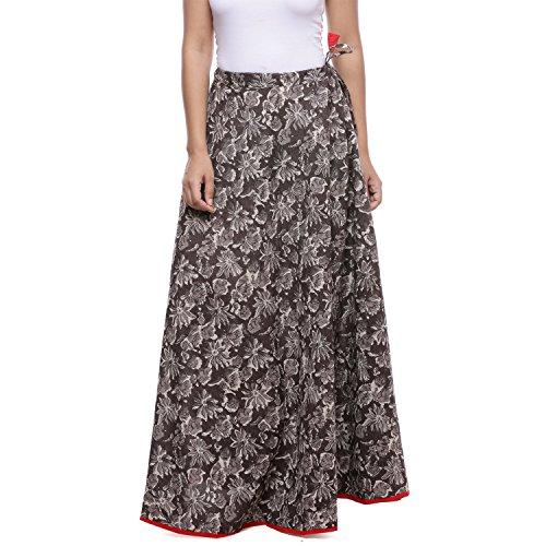 Soundarya Cotton Skirt With Indigo Print