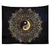 Smartcoco Indian Sun Hippie Hippy Tapestry Boho Bohemian Beach Towel Blanket Picnic Yoga Mat for Home Dorm Decor Psychedelic Celestial Wall Art, 59'' x 51''
