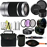 Sony E 55-210mm F4.5-6.3 OSS Lens for Sony E-Mount Cameras (Professional Accessory Kit, Silver)