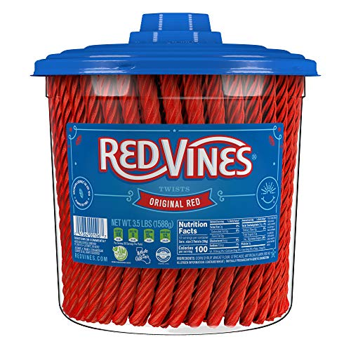 Red Vines Licorice, Original Red Flavor, Soft & Chewy Candy Twists, 3.5 Pound (Pack of 1)