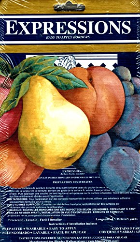 Die Cut Fruit Wallpaper Border - Die-cut Classic Fruit Wall Border