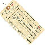 Partners Brand PG18043  Pre-Wired Inventory Tags, #8 1 Part Stub Style, Numbered 3000-3999, 6-1/4'' x 3-1/8'', Manila (Pack of 1000)
