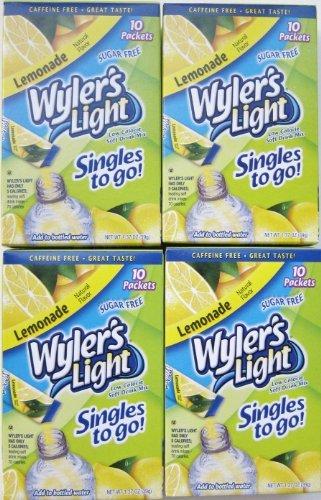 Wylers Light Singles - Wyler's Light Lemonade Singles To Go - 4 Boxes