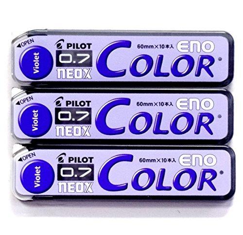 Pilot Color Mechanical Pencil Lead Eno, 0.7mm, Violet, 10 Lead ×3 Pack/total 30 Leads (Japan Import) [Komainu-Dou Original Package]