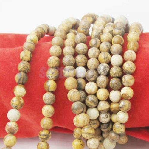 4mm Natural Picture Jasper Round Gemstone Loose Beads Strand 15 inch DIY Jewelry -
