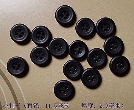 11 mm Personalizado Camisa suéter pequeño botón Negro Botones ...