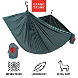 Grand Trunk Trunk Tech Double Hammock, Teal/Turquoise: Strong, Light, and Portable - Perfect for Outdoor Adventures, Backpacking, and Festivals