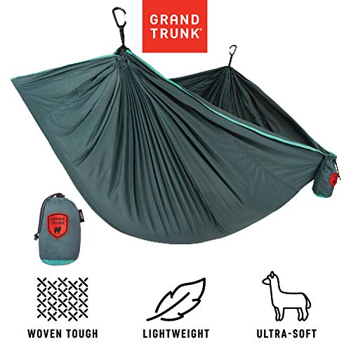Grand Trunk Trunk Tech Double Hammock, Teal/Turquoise: Strong, Light, and Portable - Perfect for Outdoor Adventures, Backpacking, and Festivals (Grand Trunk Hammock Double)