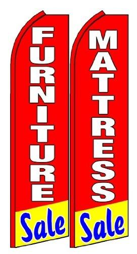 Furniture Sale , Mattress Sale Standard Size Swooper Feather Flag Sign Pk of 2 (11.5x 2.5 Feet)