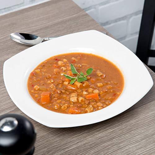 Syracuse China 905356890 Slenda 14 oz. Royal Rideau White Square Porcelain Deep Rimmed Soup Bowl - ()