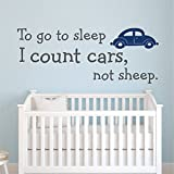 Where Can I Buy Emoji Stickers Wall Sticker Quote to Go to Sleep I Count Cars Not Sheep Wall Decal Quote Wall Stickers for Nursery Kids&Baby Wall Decor Home Decoration