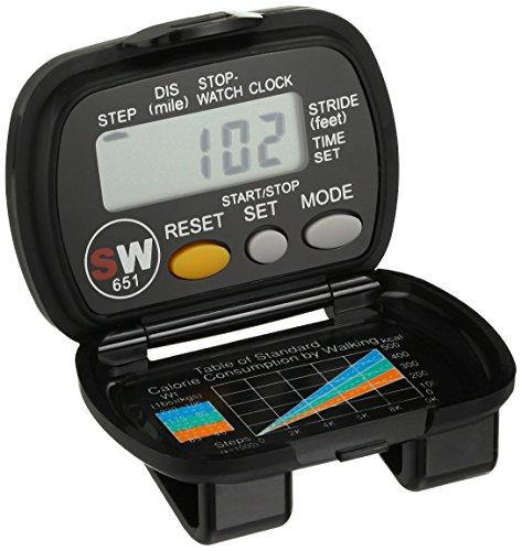 Digiwalker Pedometer (Momentum 1M-CR4106 Pedometer Step Miles Time Watch)