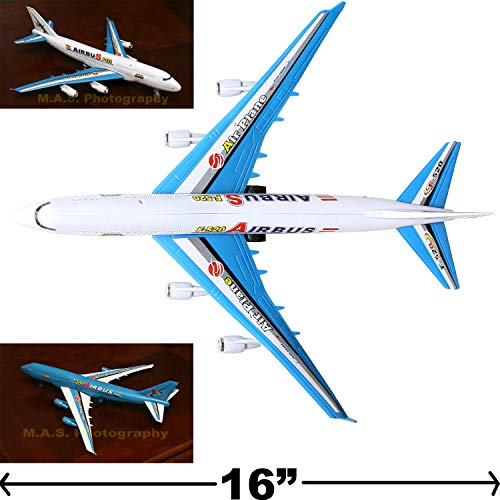 - Aeroplane Jumbo Jet Airplane Model Replica Friction Powered with Sound Big Size 14
