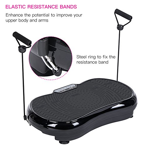 Vibration Plate Machine, Whole Body Vibration Platform Fitness Workout Muscle Trainer with Pulling Rope Body Shaper Exercise Equipment for Home by Estink (Image #3)