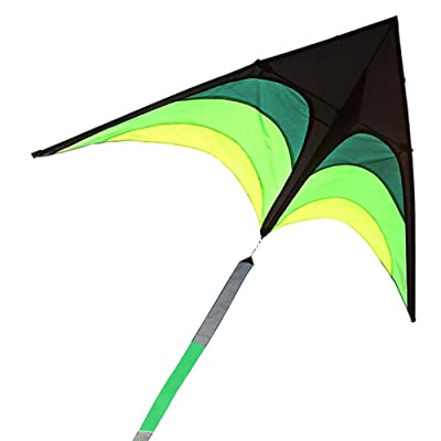 JJHAEVDY Huge Kite for Children and Adults - Very Easy to Fly Kite - Stable in Low Winds - Great Outdoor Toy for Beginners-1.6M Wide–30 Meter String: Toys & Games