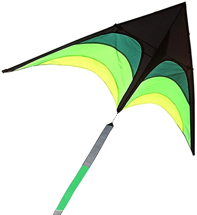 Black Easy Flyer Toys for Children Kids Outdoor Fun Flying Games And Sports Activities Transser Colorful Rainbow Flying Fish Kite