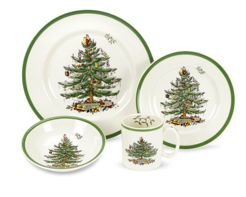 Spode Christmas Tree 4-Piece Dinnerware Place Setting, Service for 1 by Spode ()