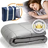 Snuggle Pro Weighted Blanket Adult - 15 lbs Heavy Blanket for Sleeping, 48