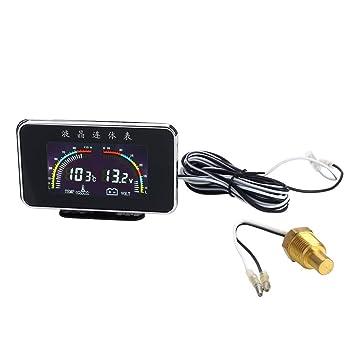 KIICN 12 / 24V Coche LCD universal 2 en 1 Calibrador de la temperatura del agua