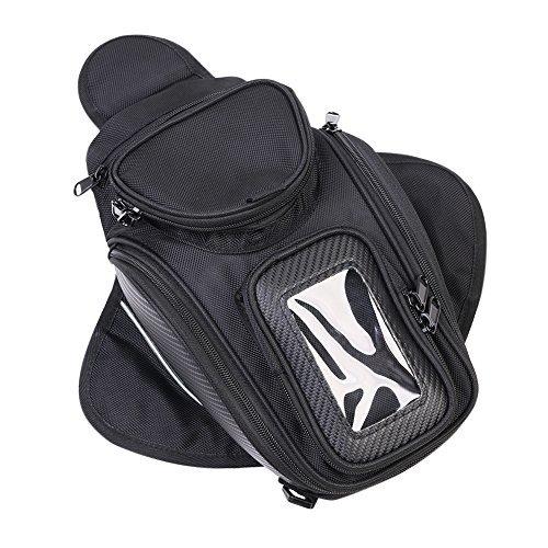 (Motorcycle Tank Bag, Universal Waterproof with Strong Magnetic Gas Oil Fuel Tank Bag Magnetic Motorbike Bag for Honda Yamaha Suzuki Kawasaki)