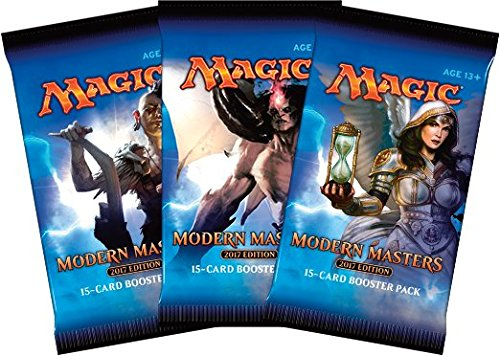 3 (Three) Packs of Magic: the Gathering: Modern Masters 2017 Edition (3 Pack - MM17 Draft Lot) (Magic The Gathering Modern Masters Booster Box)