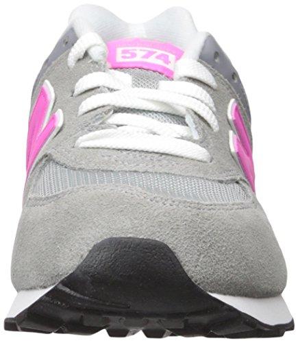 Fille Gris Rose Baskets Basses Kl574 Balance New H6wa11