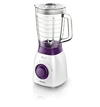 Philips Viva Collection HR2173/00 - Licuadora (1,5 L, Batidora de vaso, Violeta, Blanco, 1 m, Vidrio, Polipropileno): Amazon.es: Hogar