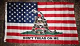 3x5 USA American Gadsden Don't Tread On Me Flag 3'x5' Banner Brass Grommets